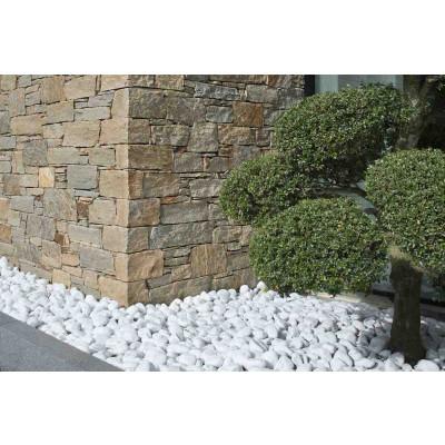 Galets marbre blancs 6/10 cm