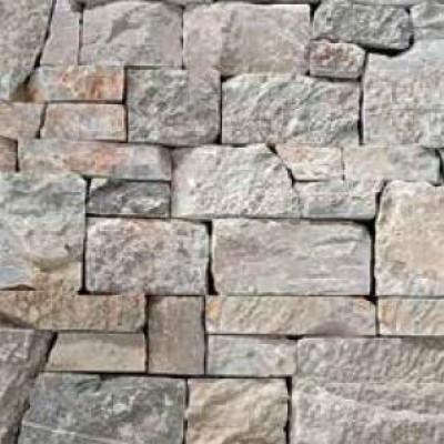 Parement intérieur et extérieur pierre naturelle gris beige