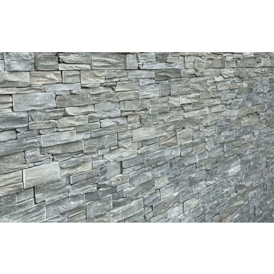 Parement quartzite gris
