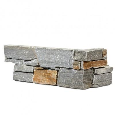 Parement pierre Quartzite gris foncé angle