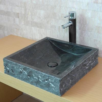 Vasque carrée Pierre Naturelle Grise