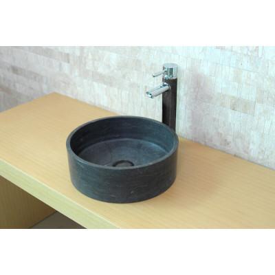 Vasque à poser grise Pierre naturelle ronde