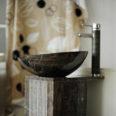 Vasque à poser - Pierre Naturelle Marron