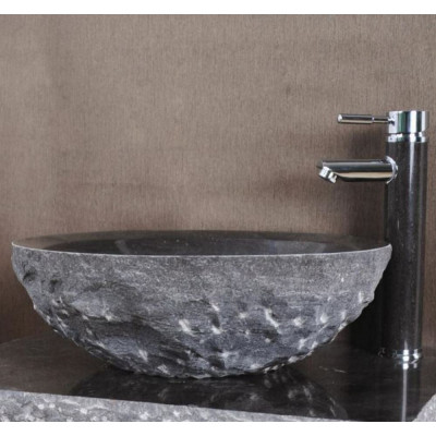 Vasque pierre ronde calcaire gris Wasa