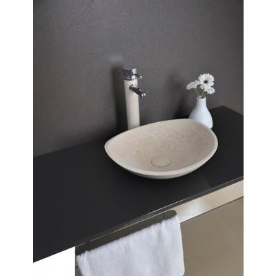 Vasque à poser ovale - Pierre Naturelle beige