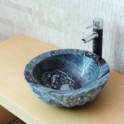 Vasque salle de bain à poser marbre gris