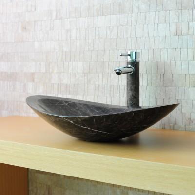 Vasque pierre ovale - Marbre Brun