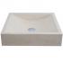 Vasque carrée  à poser en pierre