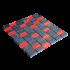 Mosaïque pierre et verre grise et rouge