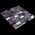 Mosaïque pierre et verre blanche et violette