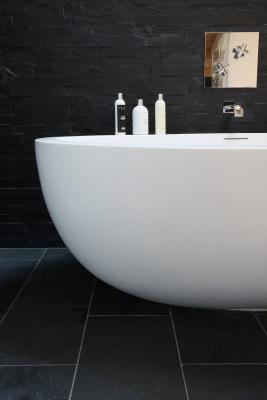 Salle de bain ardoise noire