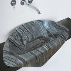 Vasque ovale Cadola marbre gris